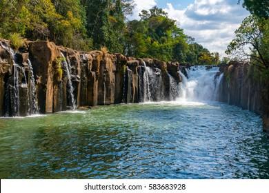 Pha Suam waterfall, Tat Pha Suam in Pakse, Laos.