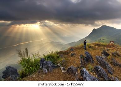 Pha Tung Mountain , Chiang Rai , Thailand
