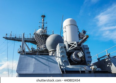 the phalanx gun ship.close in weapon system on navy ship
