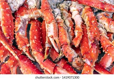 Phalanxes of king crab. Background with crab phalanxes.