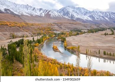 Phandar Valley at Ghizer Gilgit Baltistan in Pakistan
