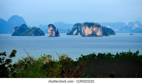 The Phang Nga Bay, seen from Koh Yao Noi, Andaman Sea, Thailand