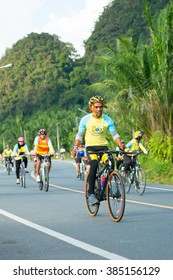 "Phang Nga - DEC 11 : Event ""Bike for dad"" from Thailand. Many people go to Bike for dad event to show respected to The King of Thailand on December 11, 2015, Thailand"