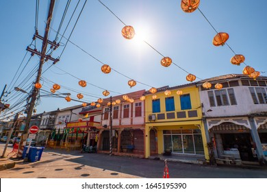 Phang Nga / Thailand - February 7, 2020 : Takuapa Old Town