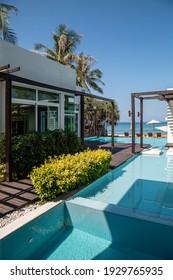 Phang Nga, Thailand - March 15 2015: A modern villa at the Aleenta Phuket Resort and Spa Hotel