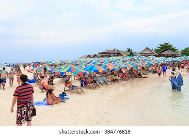 PHANG NGA,THAILAND - JANUARY 19: Khai Nok island is one of the most famous island in Thailand .Crystal clear water and white sand beach can attract many tourists - 19 JANUARY 2012