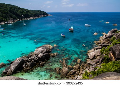 PHANG NGA,THAILAND-FEBRUARY 26 : Tourist relaxing at Similan island in Phang Nga,Thailand on February 26,2015.Similan island is destination for diving .