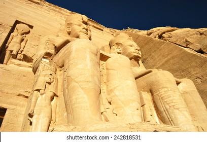 Pharaoh Monument from Abu Simbel, southern Egypt.