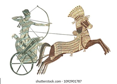 Pharaoh on war chariot from 20 pound Egyptian. Ancient Egyptian army military force. Closeup UNC Uncirculated - Collection.