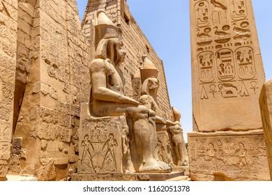 Pharaoh Rameses II Statue in Luxor Temple, Egypt, Africa