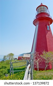 The Phare de la Martre is one of the main attractions in the tiny Gaspe village of La Martre in Quebec.