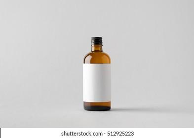 Pharmaceutical Bottle Mock-Up - Blank Label
