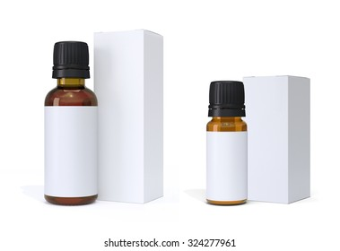 Pharmaceutical Glass Bottles and Packages Mock Up
