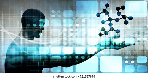 Pharmaceutical Industry with Science Research as Art 3D Illustration Render
