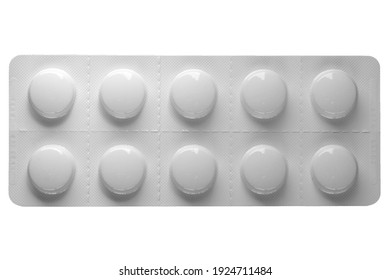 pharmaceutical over the counter or prescription pills isolated over white background