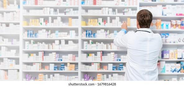Pharmacist working in a drugstore