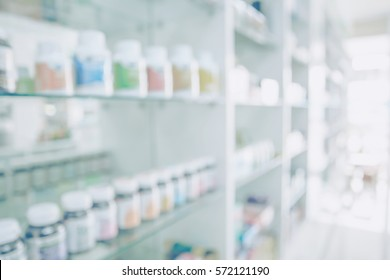 Pharmacy blurred light tone with store drugs shelves interior background, Concept of pharmacist and chemist, middle east or transcontinental region centered on western asia.