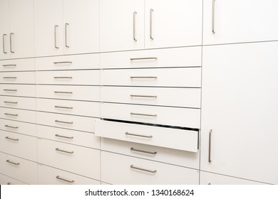 pharmacy cabinet from side of drawers