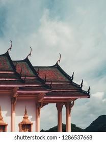 Phatthalung, Thailand: 13 December 2018: Photo showing wat khuha sawan