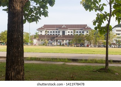 Phatthalung, Thailand - August 3, 2018: Phatthalung City Hall located in Muang distric.