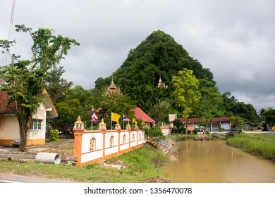 PHATTHALUNG, THAILAND - JANUARY 31 : Wat Khao Orr or Kao Or temple for thai people travel visit and respect praying buddha and god and angel statue on January 31, 2018 in Phatthalung, Thailand