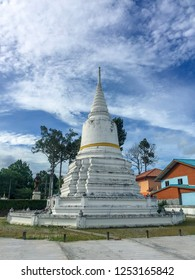 PHATTHALUNG, THAILAND - July 28, 2018: The pagoda at Wat Wang temple in Lam Pam, Muang Phatthalung District, Phatthalung Province