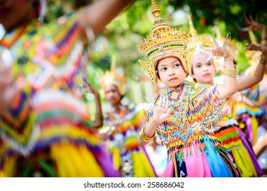 PHATTHALUNG THAILAND- MARCH 4: Nora Show in religious ceremony, Native Art of Thailand on March 4, 2015 in Phatthalung, Thailand
