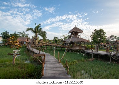 PHATTHALUNG,Thailand : August 11, 2018 : NaPoKae Homestays farmers learning center Tourist attraction located in Phatthalung Province, Thailand.