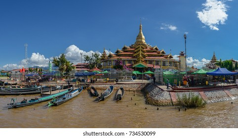 Phaung Daw Oo Pagoda is Monastery on the Intha village 18 December 2016,Inle lake, Shan state, Myanmar