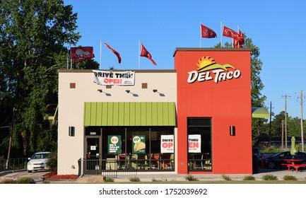 PHENIX CITY, ALABAMA/ USA - 05-06-2020 Del Taco restaurant in the USA.