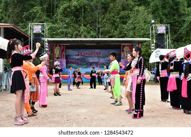 Phetchabun, Thailand​ -​ January​ 07, 2019​: New​ year event​ of the​ Hmong People​ at Tubberk village​ in Phetchabun, Thailand.