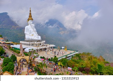 Phetchabun , Thailand - 17 FEB 2019 Wat Phra That Pha Son Kaew tourist attraction in Khao Kho, Phetchabun, Thailand.