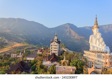PHETCHABUN ,THAILAND - JANUARY 4 : Phasornkaew Temple with Colorful mosaic,  place for meditation that practices The Four Foundations of Mindfulness on January 4, 2015 in Phetchabun, Thailand.