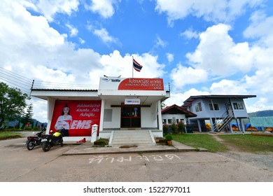 PHETCHABUN, THAILAND - September 15, 2019 : Khao Kho Post Office is situated on a high mountain, a popular tent spot that tourists go to in the tent, sleeping, watching the scenery and sea of mist.