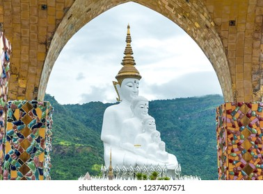 Phetchabun,Thailand-November 15,2018: Wat Pha Sorn Kaew ,Phetchabun,Thailand.Wat Pha Sorn Kaew is Buddhist temple and monastery on the summit.Decorated with colorful mosaic tiles.Amidst lush forests.