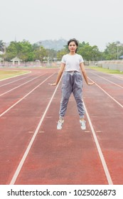 PHETCHABURI / THAILAND - FEBRUARY 15 2018: Women wears Adidas superstar white/black shoes with popular fashion thailand.