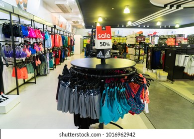 Phetchaburi, Thailand - October 11, 2017 : Adidas factory store Outlet Park shopping mall in Premium Outlet Cha-am : Premium Outlet Thailand