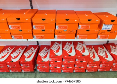 Phetchaburi, Thailand - October 11, 2017 : Nike factory store Outlet Park shopping mall in Premium Outlet Cha-am : Premium Outlet Thailand