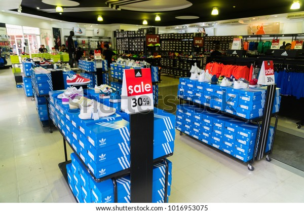 3d9eb72a Phetchaburi, Thailand - October 11, 2017 : Adidas factory store Outlet Park  shopping mall