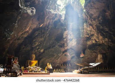 Phetchaburi, Thailand - On September 23, 2016 Khao Luang Cave, one of the attractions of Thailand is beautiful.