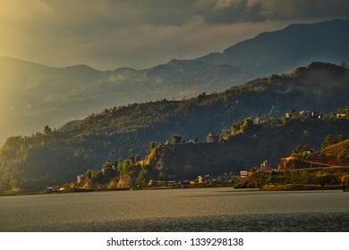 Phewa Lake in Pokhara,Nepal