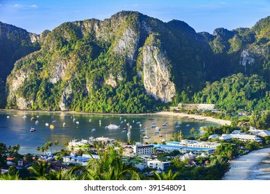 Phi Phi Islands. Located in Ao Ton Sai, Phi Phi Islands, Thailand.