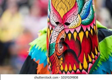 Phi Ta Khon festival in Loei. Thailand traditional at Dan Sai.