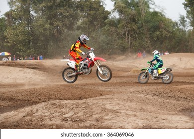 Phichit,Thailand,December 27,2015:Extreme Sport Motorcycle,The motocross competition