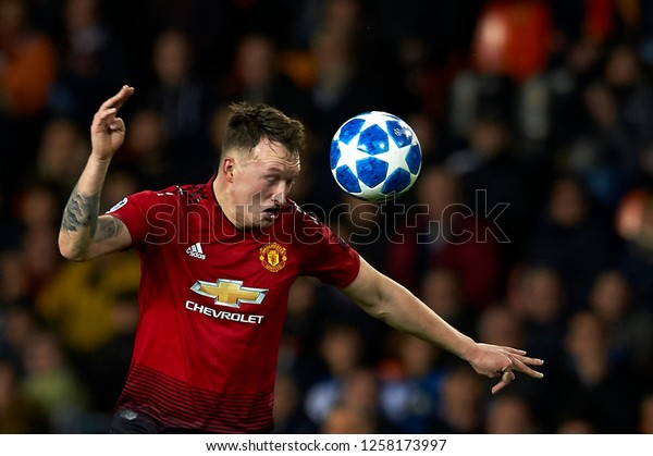 Phil Jones Manchester United During Match Stock Photo Edit Now 1258173997