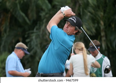 Phil Mickelson at World golf championship, doral, Miami, feb 2007, florida