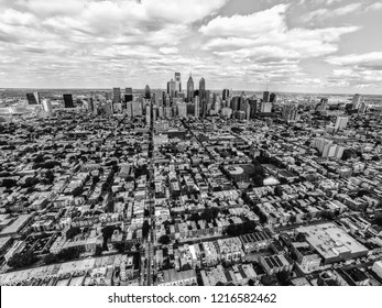Philadelphia from Above - Black and White