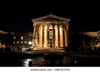 The Philadelphia art museum with history of Rocky Balboa steps
