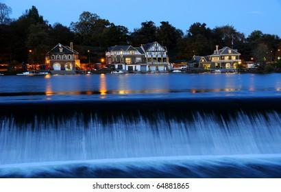 Philadelphia Boathouse Row at Twilight
