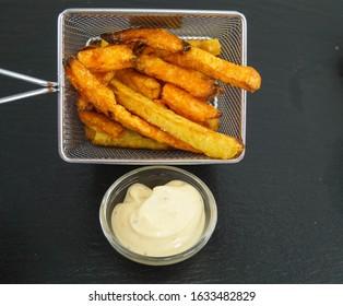 Philadelphia cheese Steak Sandwich with sweet potatoe Pommes frites